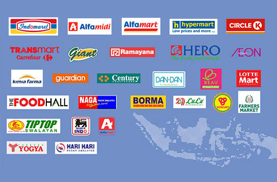Distribution channels throughout Indonesia
